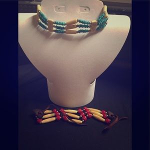 Native American style choker with free  bracelet